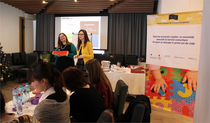 The practitioners in Communication through Music from 5 districts attended a new training delivered with EU support