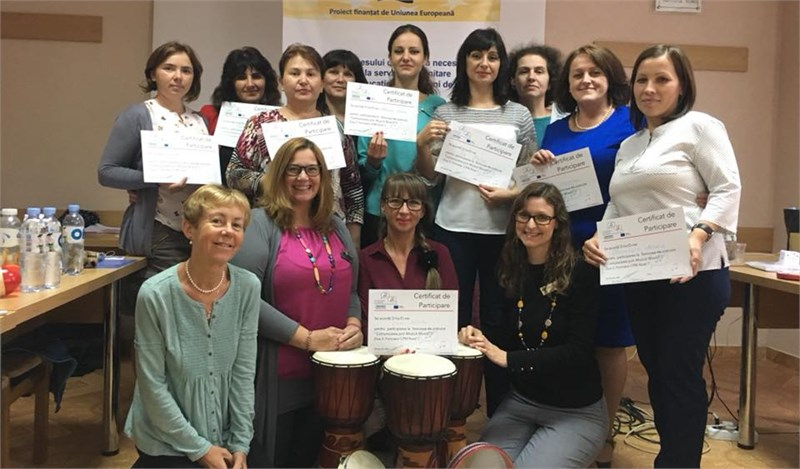 "10 practitioners have been certified as trainers in the ""Communication through Music"" Programme with EU support"