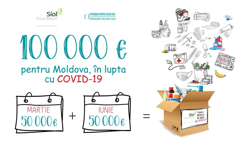A new donation from the Síol Foundation from Ireland amounting to 50,000 EUR to fight COVID-19